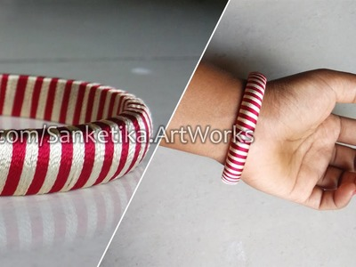 Double Color Silk Thread Bangles - Waving Two Colors At A Time - DIY Fancy Bangles