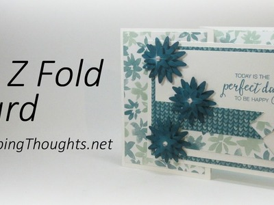 Double Z Fold Card  Perfect Day to be Happy with Blooms & Bliss designer paper from Stampin' Up!