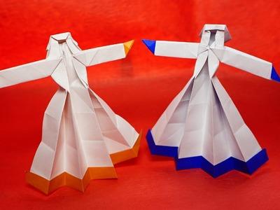 Easy Origami Dancing girl tutorial (Henry Pham)
