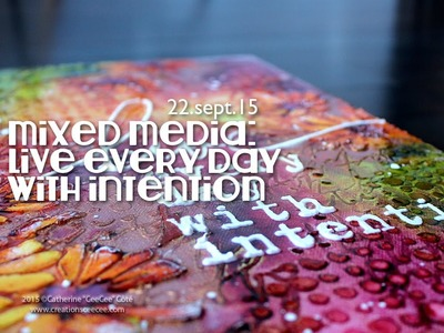Fall mixed media canvas: live with intention