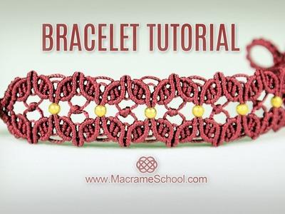 Floral Macramé Bracelet Tutorial in Vintage Style