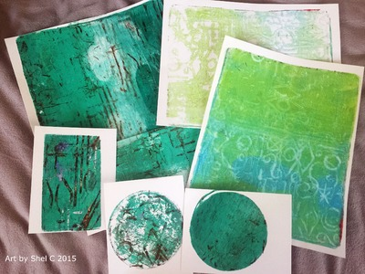 Gift Journal Part 1 - Gelli Printing Technique with Styrofoam