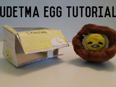 Gudetama chocolate squishy tutorial(collab)
