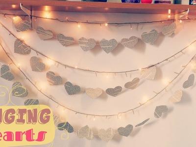 Hanging Hearts - Heart decorations | Bedroom Decor Ideas