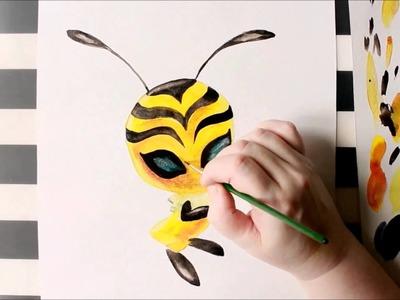 How to Draw Kwami (PLAGG, Tikki, Peacock, BEE, Volpina) Miraculous - LadyBug