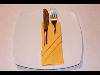 How to Fold Napkin - Fancy Pouch