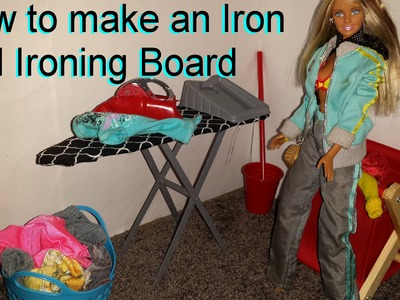 How to make a Barbie Iron and Ironing Board