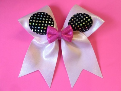 "How to make a cheer bow ""WORLDS"" style by Lisa Pay"