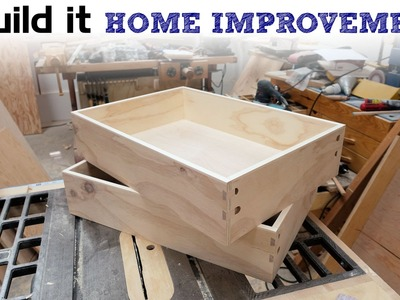 How To Make Drawers The Easy Way - Kitchen Cabinet Build