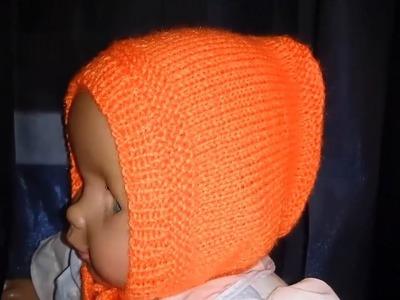Knitting  Lesson № 57 Bonnet for newborn baby