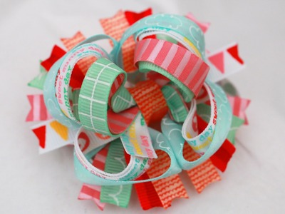 Let's make a TINY 3 inch Stacked Boutique Hairbow!. DIY bow