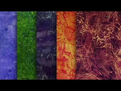 More Painted Papers for Mixed Media Projects | Plastic Wrap Technique | #MixedMediaMorsels