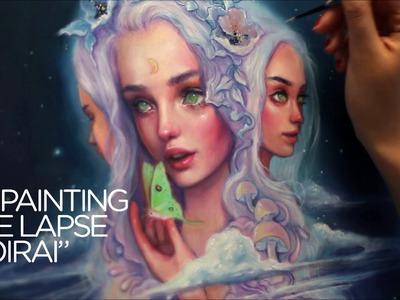 "OIL PAINTING TIME LAPSE || three goddesses ""Moirai"""