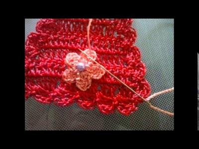 Pap do chinelo decorado com croche