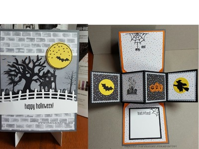 Stampin' Up! Spooky Fun Twist and Pop Up Panel Fun Halloween Card