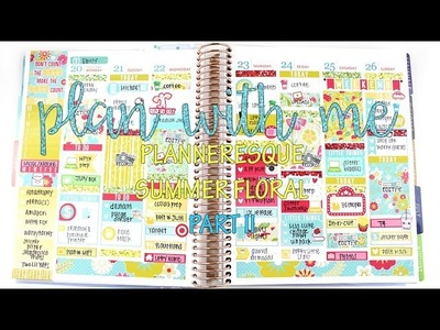 "Talk-thru Plan with Me: Planneresque ""Summer Floral"" Part II | MandyPlans"