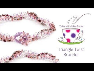 Triangle Twist Bracelet | Take a Make Break with Sarah