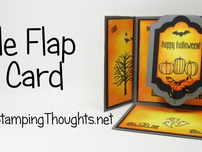 Triple Flap Fold Halloween card with Spooky Fun  from Stampin' Up!