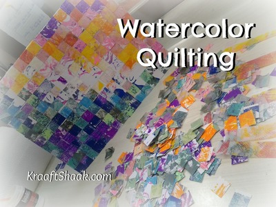 "Watercolor ""quilting"" with gelli plate pulls sped up version"
