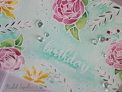 Watercolored Birthday Wishes Card with Altenew