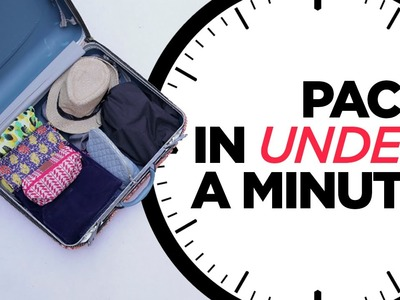 D.I.Y #Packing | HOW TO PACK IN LESS THAN A MINUTE | StyleIndi | Indi In The City