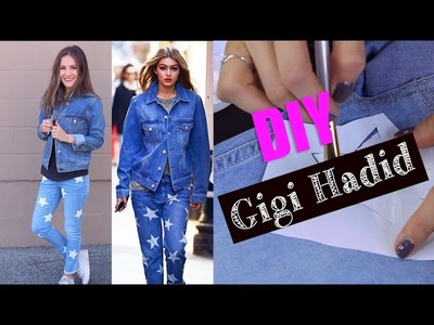 DIY Gigi Hadid's Cute Denim Look! (STYLEWIRE)