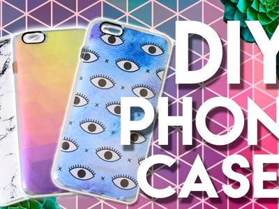 DIY IPHONE CASES!   WildFlower iPhone Case + DIY Tumblr iPhone Case!