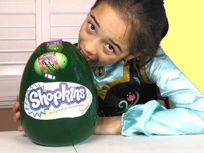 JELL-O SHOPKINS EGG! GUMMY DIY GIANT SURPRISE EGG WITH SHOPKINS BASKET AND DOLLS