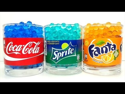 Learn Colors for Children with Coca Cola Fanta Sprite DIY Orbeez Challenge Surprise Toys for Toddler