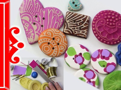 Polymer Clay Tutorial Buttons Buttons Buttons