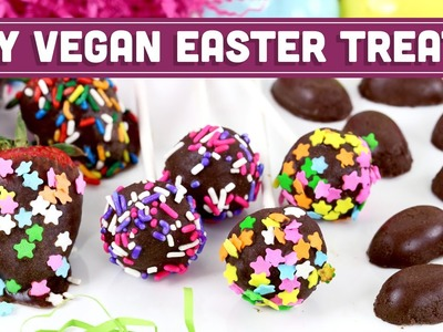 Vegan Reese's Eggs + Truffle Pops! | DIY Chocolate Easter Treats - Mind Over Munch