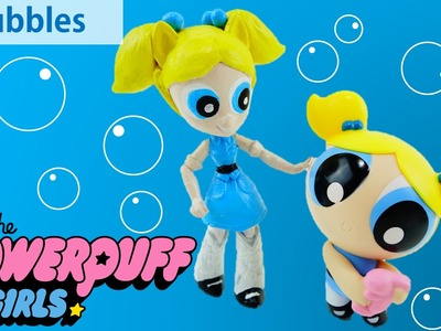 BUBBLES Powerpuff Girls Custom Doll with My Little Pony Equestria Girls Minis