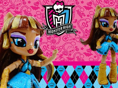 CLEO DE NILE New Custom Monster High Doll From My Little Pony Equestria GirlS Tutorial
