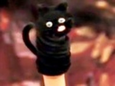 Crafty Camp 'Black Cat Finger Puppet'