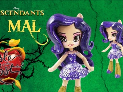 Custom Mal Disney Descendants Isle Of The Lost Doll MLP Fluttershy Mini DIY Tutorial Start With Toys
