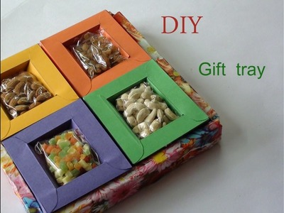 DIY Gift tray for dryfruits