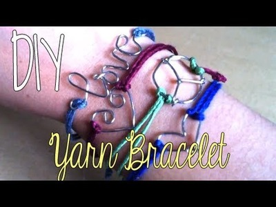 DIY; Simple Yarn Bracelet