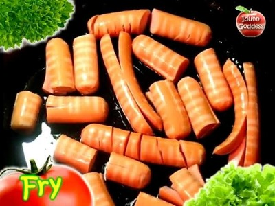 Easy Fast Recipe of Beautiful and Funny Dish - Figured Sausages