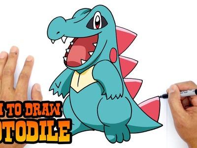 How to Draw Totodile (Pokemon)- Kids Art Lesson