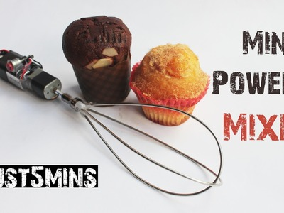 How to make a MINI POWERED MIXER with Just 5 mins
