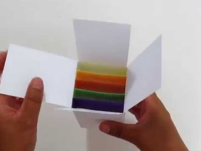 How to make a pop up card box tutorial FREE Card Template