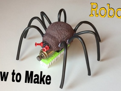 How to Make a Robot - Big Spider - BristleBot - Simple Toy - Tutorial