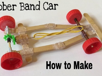 How to Make a Rubber Band Car - Very Fast and Powerful - Tutorial