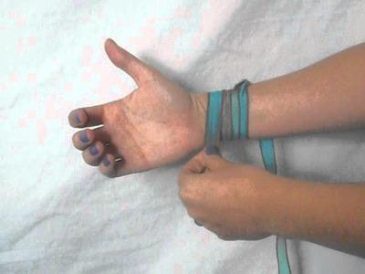 How to Tie a Yoga Wrap Bracelet