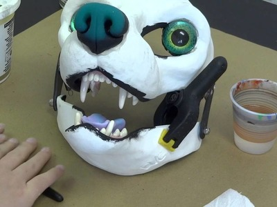 Installing parts: Making lips of apoxie sculpt