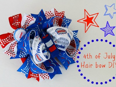 Let's make a STACKED BOUTIQUE HAIRBOW. 4th of July bow tutorial