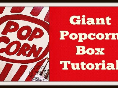 Part One Huge Popcorn Box (Popcorn Balloon Arch Series)