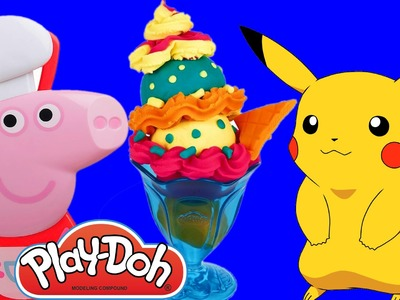 Play Doh How To Make Ice Cream With Peppa Pig and Pikachu Pokemon Go #1| Kids Blast