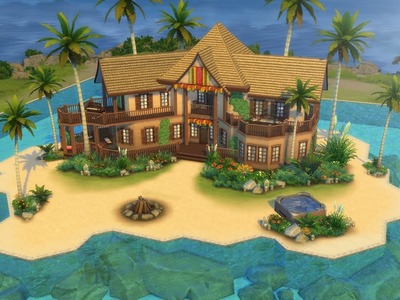 The Sims 4 | Speed Build | Island Family Home