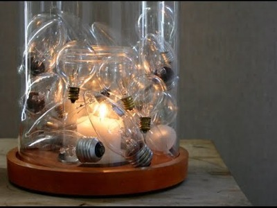 What can be made out of RECYCLING Light Bulbs